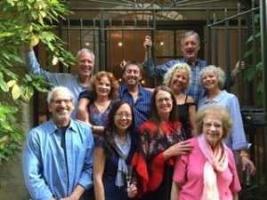 Participants in the 2015 Travel, Food and Wine Writing Class celebrate graduation.