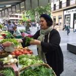 Gabriella Rinelli shopping at one of the many wonderful vegetable markets in San Sebastian.