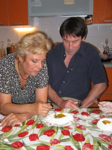 Travel Writing Classes: Teresa Galli teaches Writer's Workshop founder Nick O'Connell how to make fresh pasta.